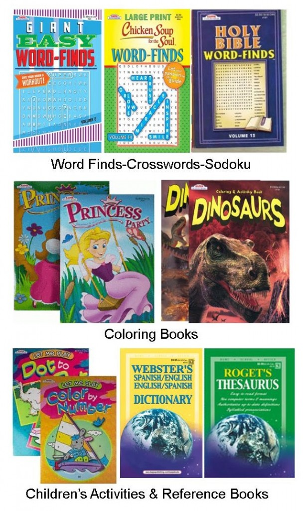 wholesaler of cheap coloring books and puzzle books